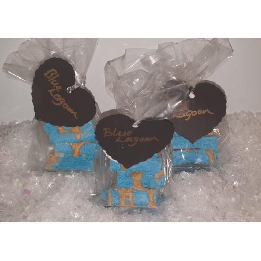 Blue lagoon bath truffles
