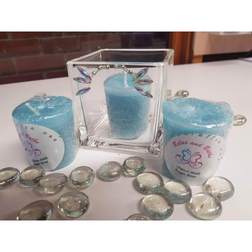 Boss bottled votive candle pack of 4