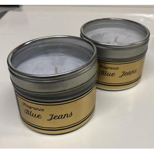 Blue Jeans Candle Tin
